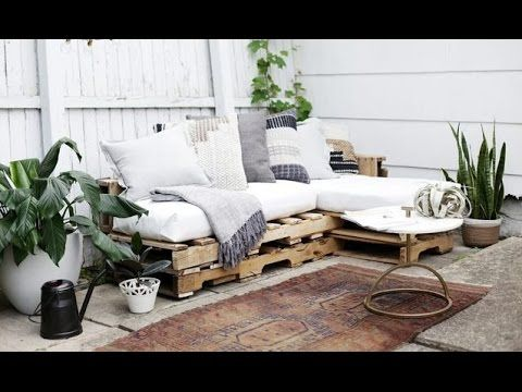 DIY Wood Pallets Outdoor Couch Cushions - Home Decor Tutorial