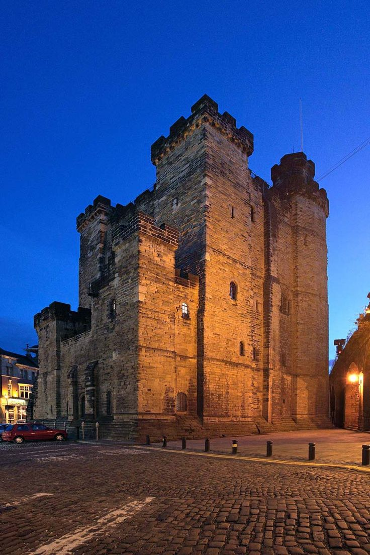 "Castle Keep, Newcastle upon Tyne. The only surviving part of the stone ""New Castle"" which replaced the ancient wooden one. Photo by Roger Clegg"