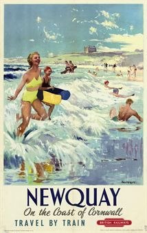 Jack Merriott (1901-1968) NEWQUAY offset lithograph in colours, c.1956,
