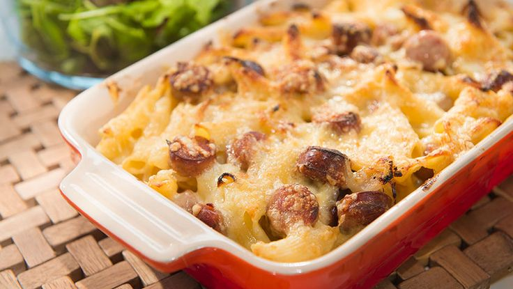 Ekstra god pølseform med pasta