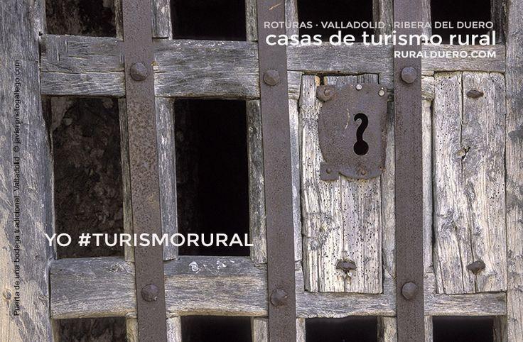 Puerta de una bodega tradicional en un pueblo de la ribera del Duero. Comarca de Peñafiel. Valladolid. Castilla y León. España. © Javier Prieto Gallego