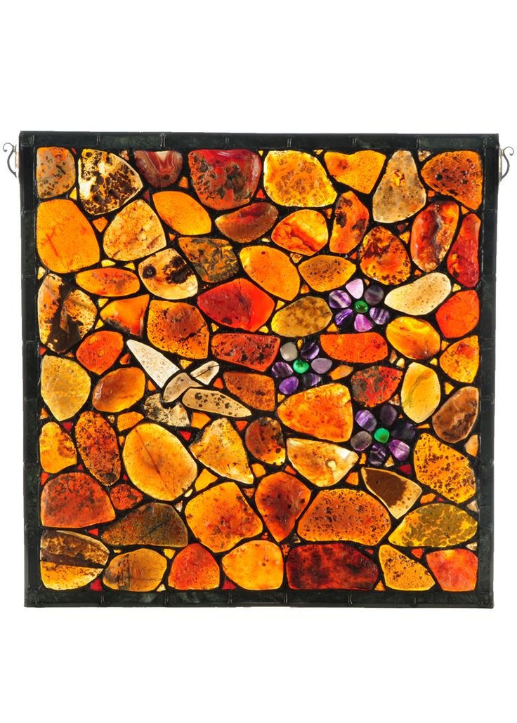 "Image result for Agate Stone Hummingbird | Stained Glass Window | 20"" X 20"""