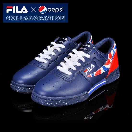 [Fila x Pepsi] Limited Original Classic Retro Casual Shoes  All Unisex Size Navy #Fila #CasualShoes