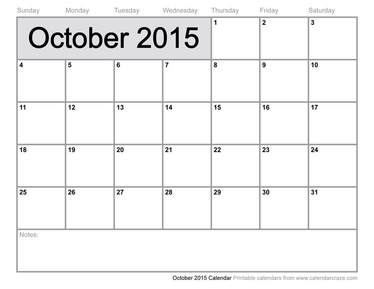 calendar 2015 october printable - Google Search