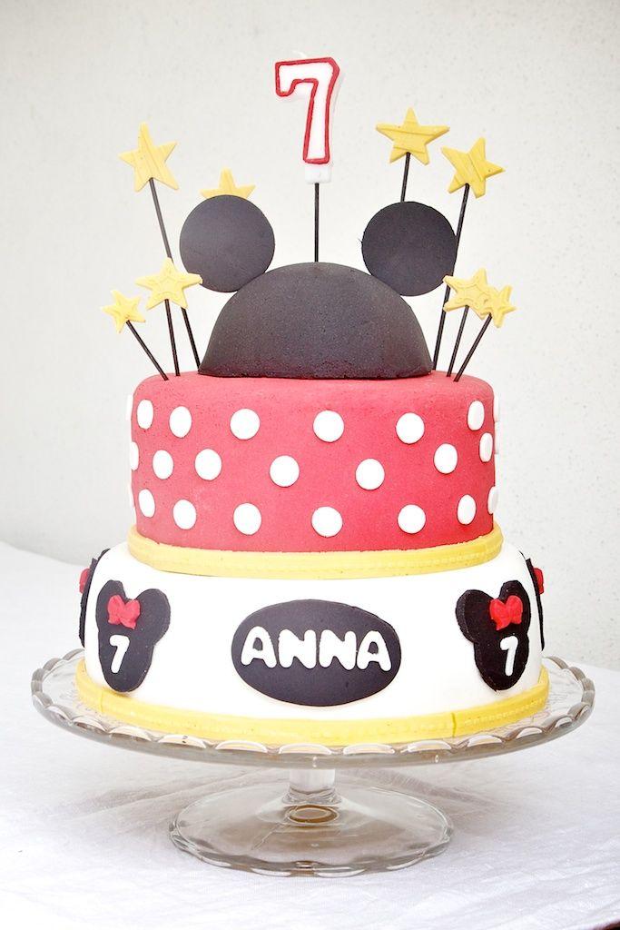 Pastel de cumpleaños de Mickey Mouse para Anna en su 7º cmpleaños