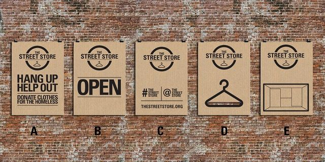 #AdoftheWeek: Pop-up Street Store for the homeless shows real heart. January 29, 2014. Open source StreetStore.org posters by M&C Saatchi Abel Cape Town.