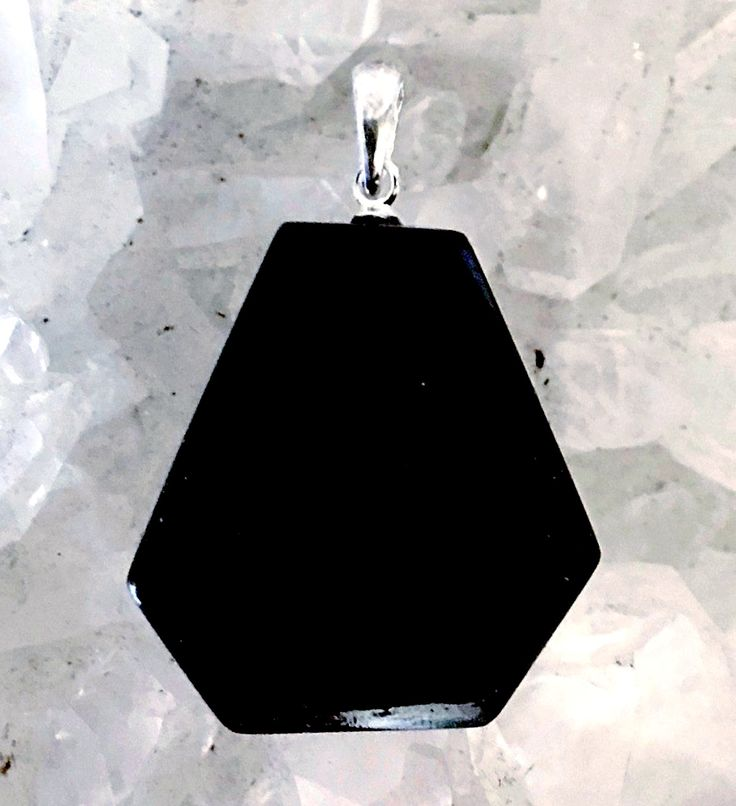 Black Tourmaline Free Form Pendant - Protection Stone | New Earth Gifts