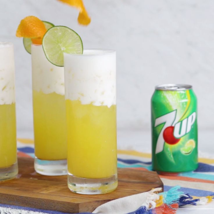 Say hello to the perfect make ahead, assemble, & impress party cocktail. Made with 7UP, you'll love this citrus-y twist on a classic gin fizz. [AD]