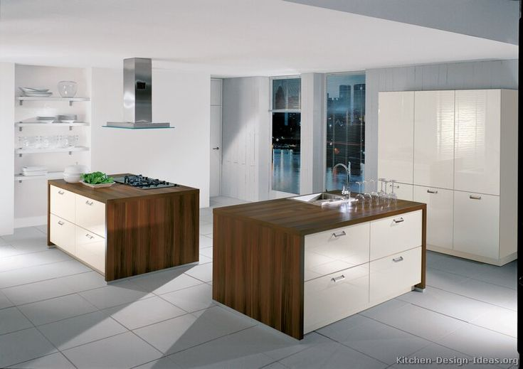 Kitchen Idea Of The Day Modern Cream Colored Kitchen With Two Islands By Alno Ag Kitchen