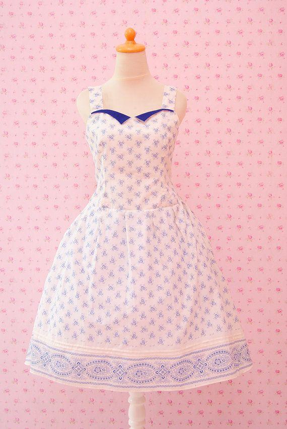 Handmade Pin Up Dress Rockabilly Clothing 50s by SenoritaHandmade