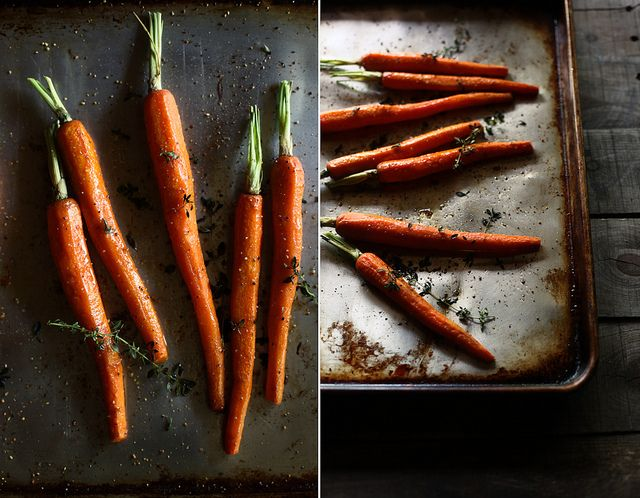 Butter roasted carrots with lemon thyme: Butter Carrots, Honey Amp, Butter Thyme, Bunch Carrots, Butter Roasted Carrots, Carrots Honey, Lemon Thyme, Photo, Eating Carrots