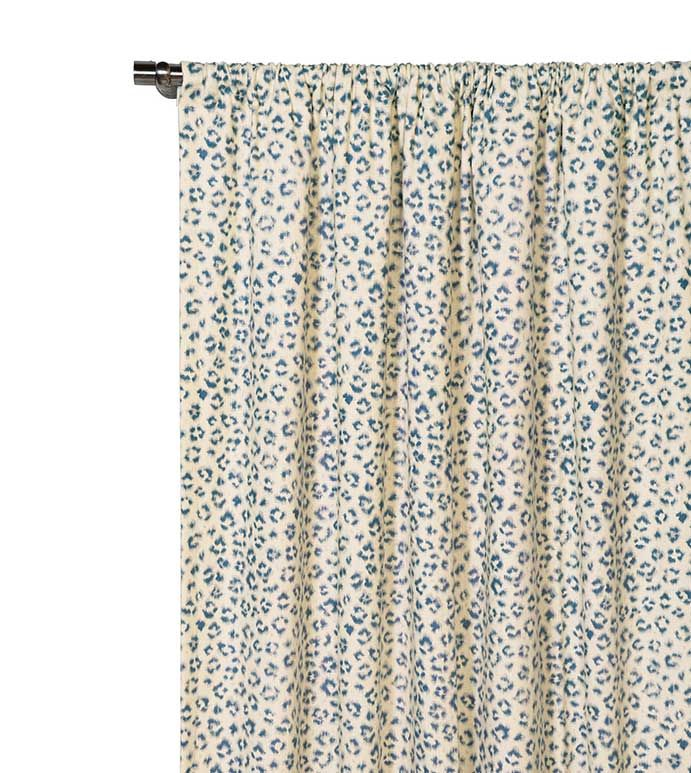 Eastern Accents Tabby Sapphire Curtain Panel Animal Print