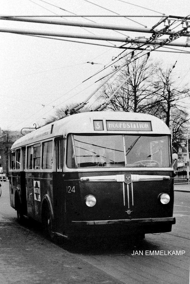 GVBG trolleybus 124, lijn 3, Herebrug
