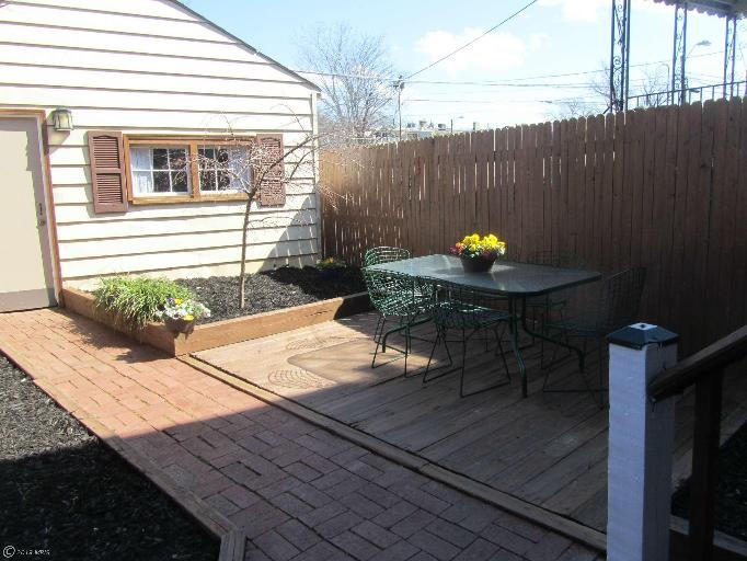 Back patio and gardens.