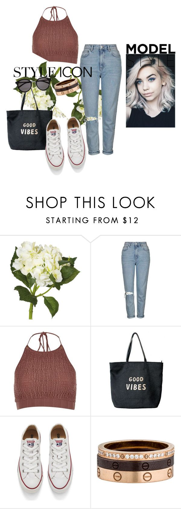 """Inspiring By Amanda steele"" by el-khawla ❤ liked on Polyvore featuring OKA, Topshop, River Island, Venus, Converse, Cartier, Yves Saint Laurent and Amandasteele"