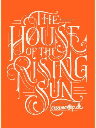 """""""The House of the Rising Sun"""" - Størrelse: 70cm x 100cm / A3"""