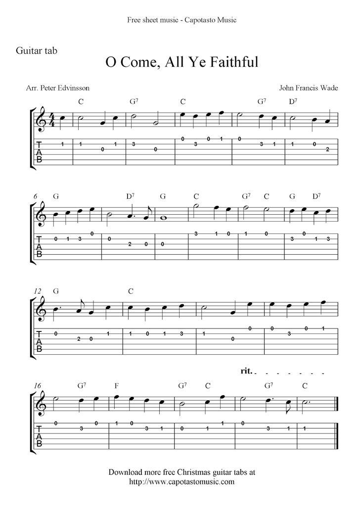 Free Printable Sheet Music Guitar sheet music, Guitar