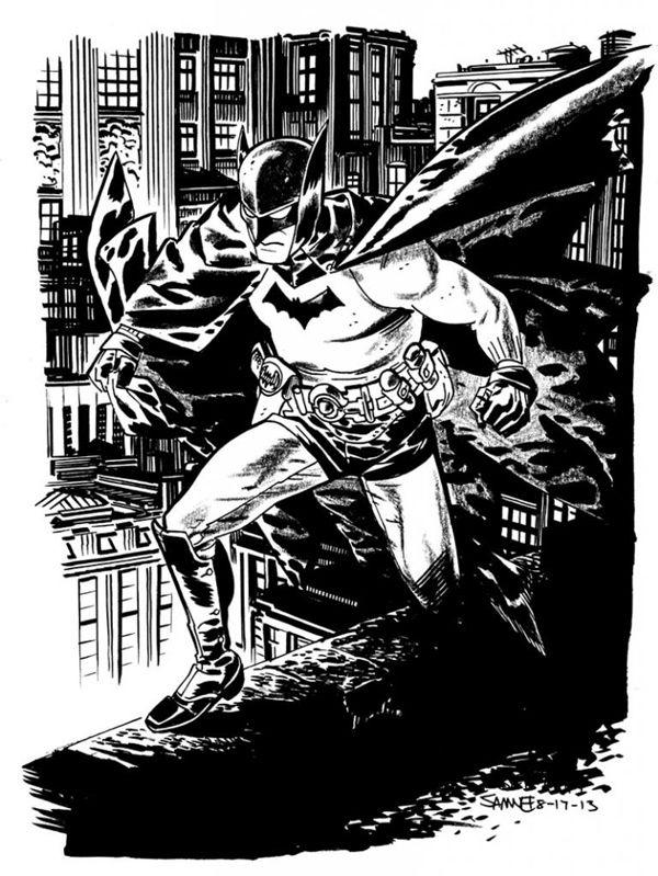 Chris Samnee's Golden Age Batman