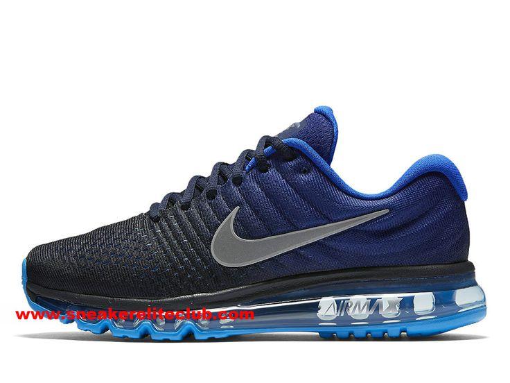 Nike Air Max 2017 Prix - Chaussures De Running Pas Cher Pour Homme Noir/Bleu/Gris-849559_400 - Chaussure Nike BasketBall Magasin Pas Cher En Ligne!