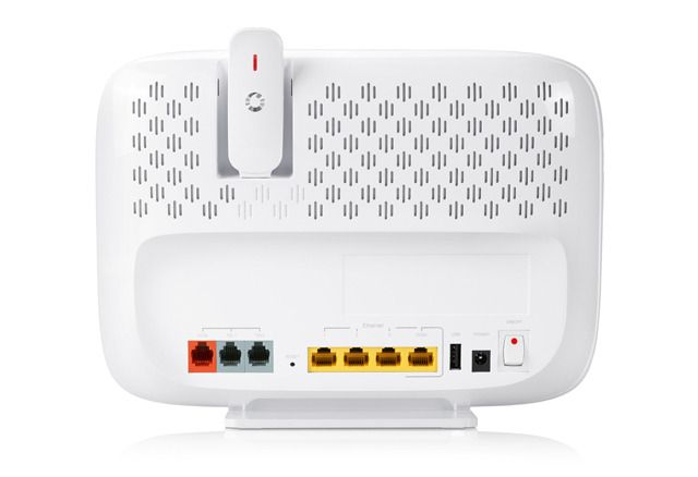 Color-coded ports and cables make setup simpler, contributing to reduced service calls for Vodafone.