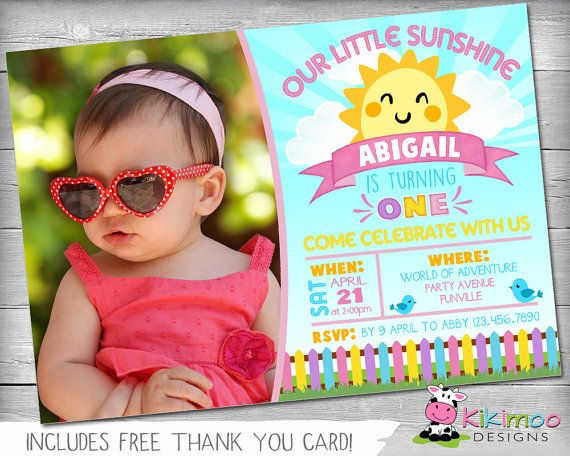 Best Birthday Themes Girl Images On Pinterest Party - Email invitation for first birthday party