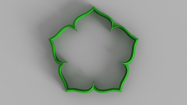 Flower cookie cutter (3D Model for 3d printing) Digital Download by 3DSlice on Etsy