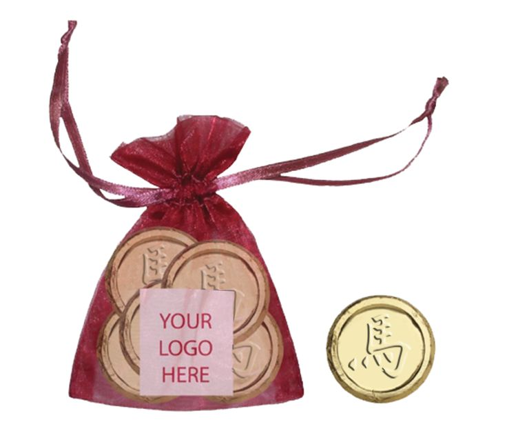 Who wouldn't love this organza bag filled with chocolate coins!