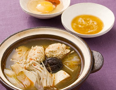 鶏のつみれ、ゆず、しょうが入りの鍋仕立て|永谷園生姜レシピ129+43