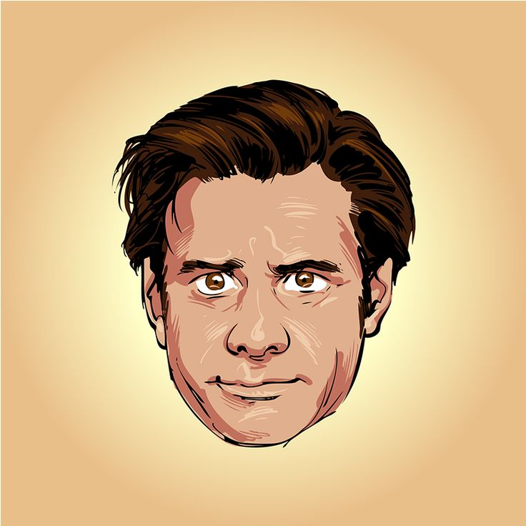 Jim Carrey vector comics style portrait