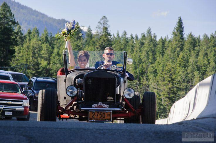 Antique car wedding photography kelowna