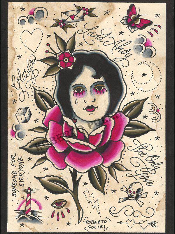 Painting available. #tattooflash#tattoo#traditionaltattoo#vintage#glasgowtattoo#tattoos#painting#tattooart