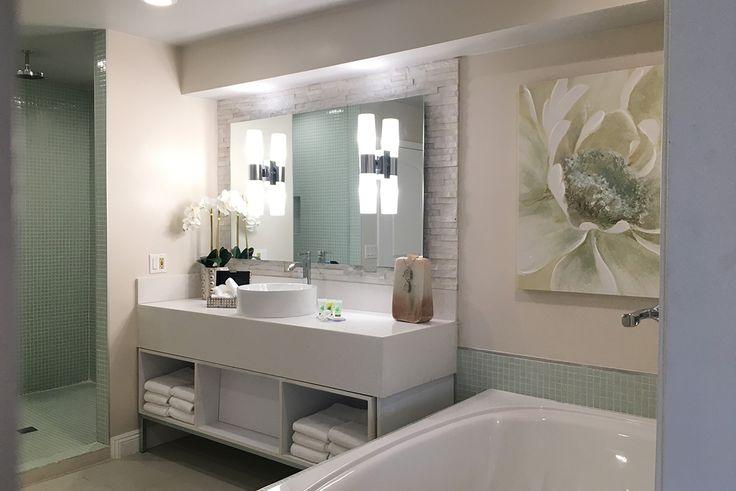 Julie Khuu Interior Design, Hotel Le Reve, Old Town Pasadena, Hotel Renovation, Boutique Hotel, Bathroom