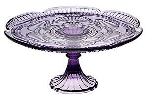 """How many cake plates is too many cake plates? - Monique Delatte [""""One Kings Lane - Something Sweet - Marcella Cake Plate, Amethyst""""]"""