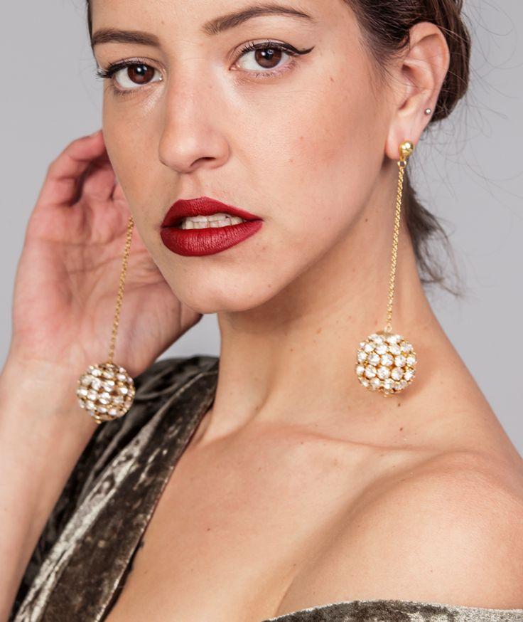 Carol Golden Earrings - Handmade  by myfashionfruit.com