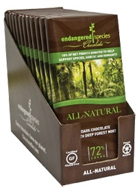 Endangered Species Chocolate Co. (More from Endangered Species Chocolate Co.)  Dark Chocolate With Deep Forest Mint