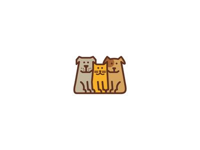 Two Dogs And Cat