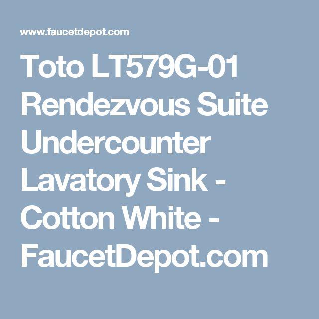 Toto LT579G-01 Rendezvous Suite Undercounter Lavatory Sink - Cotton White - FaucetDepot.com