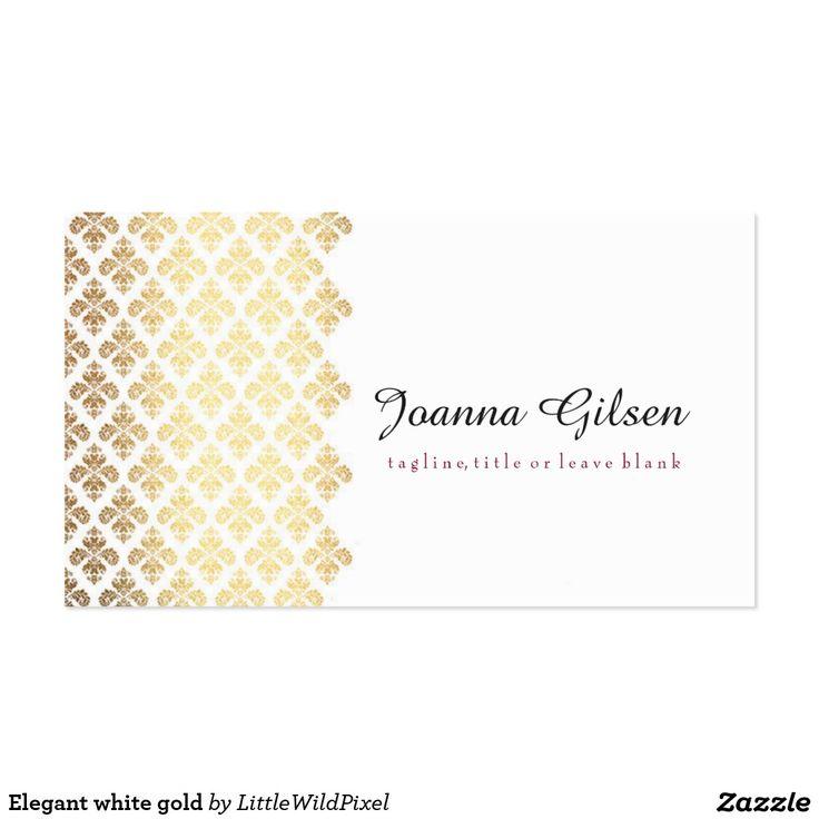 Elegant white gold
