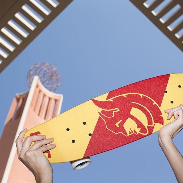 Want to cruise campus on a custo USC cruiser? ✅ the @USCbookstore 🎓  #FightOn! ✌️ #backtoschool #skateboard #cruiser #aluminati #college #university #usc #welcometousc #trojans #madeinamerica #recycle ♻️