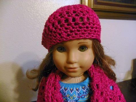 Simple American Girl Doll Crochet Hat Pattern