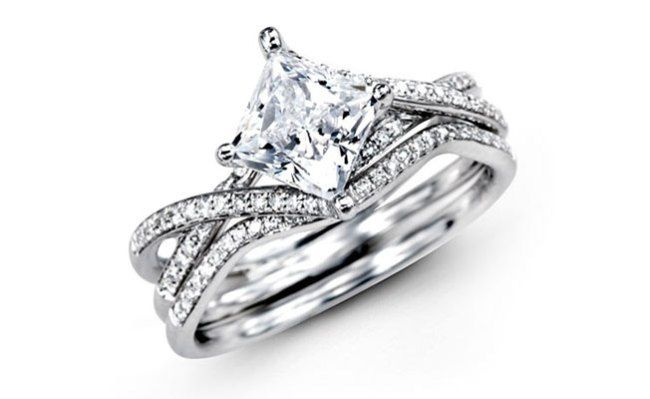 Tiffany Princess Cut Engagement Ring | Favorite Princess Cut Diamond Engagement Rings - The Knot Blog