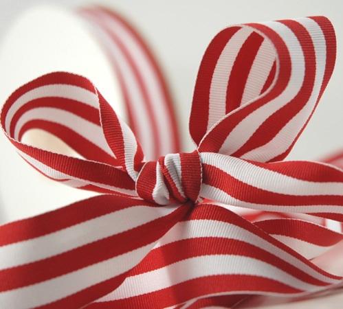 Red & white grosgrain ribbon