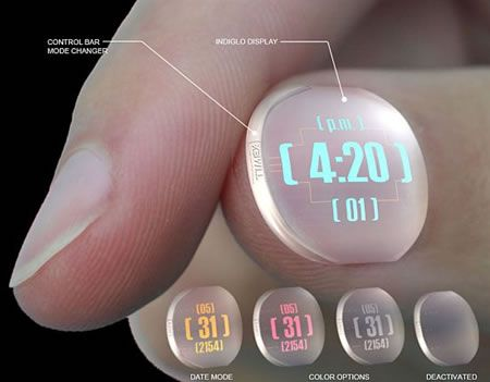Nail Clock...from Timex....I must get this, for times when you don't have your phone, maybe
