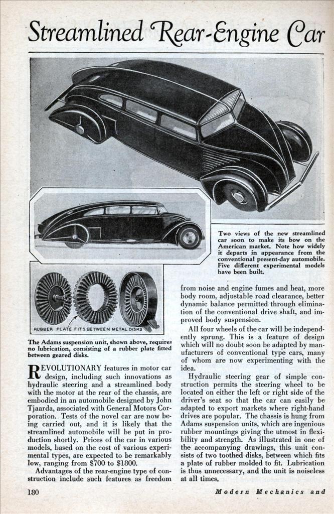 Streamlined Rear-Engine Car Designed for American Market | Modern Mechanix