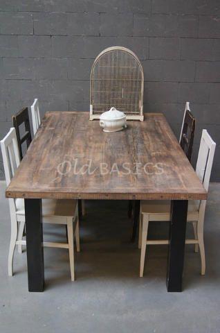 Table Tisch A Tough Dining Table With A Stoere Eettafel Een