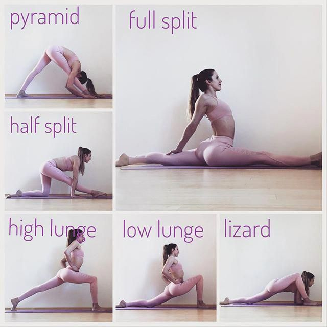 Splits Tutorial Yogarelaxationposesandsequence Yogamats Flexibility Workout Dancer Workout Gymnastics Workout