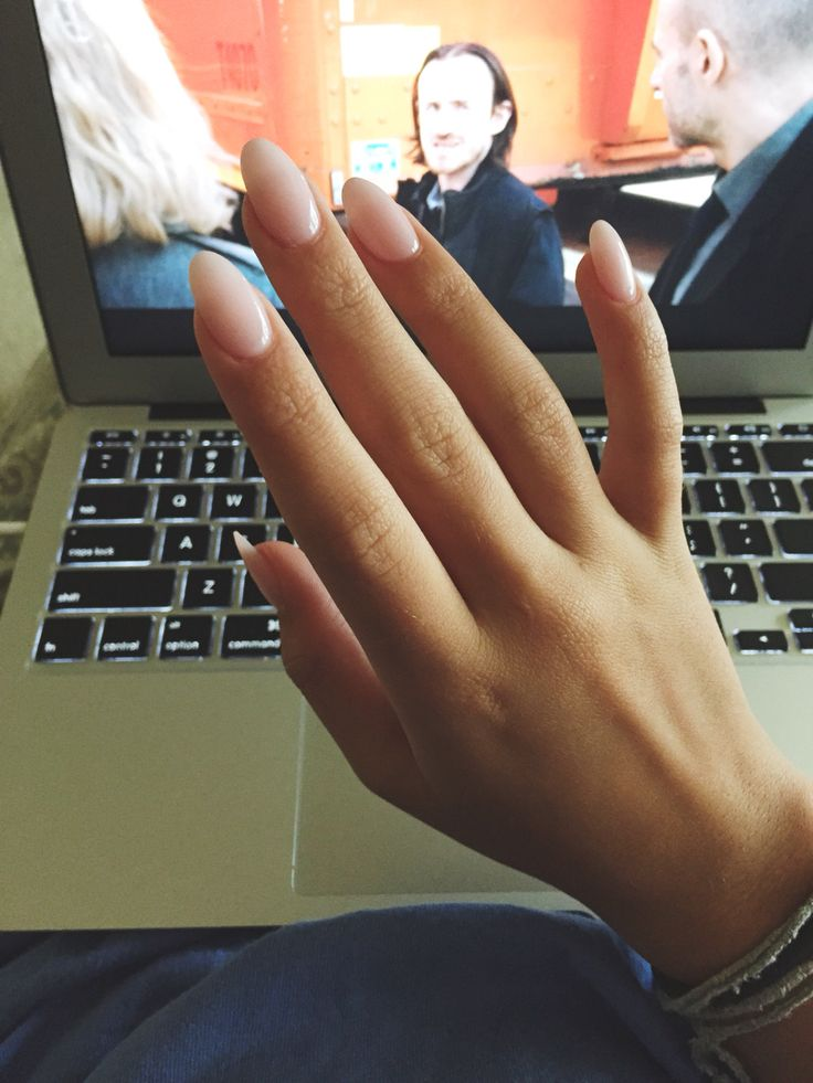 Almond nude nails