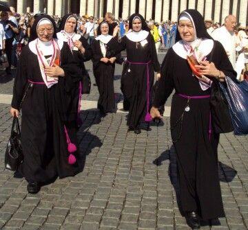 Nuns how love women in uniforms