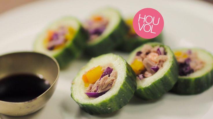 LINDA.tv wil dit met je delen: Typisch gevalletje all you can eat: sushi van komkommer