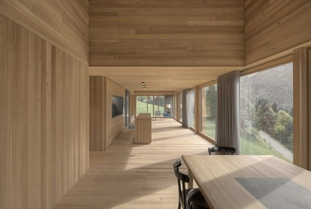 Maison en bois en Autriche par Bernardo Bader Architects - Journal du Design